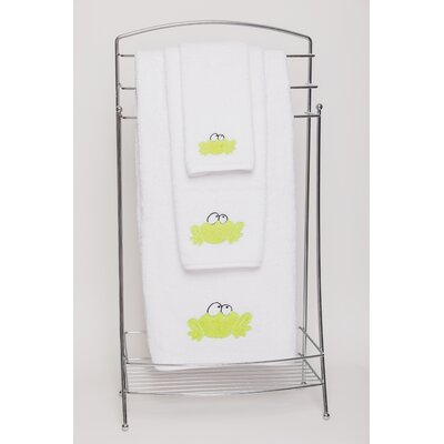 Frog Embellished Bath Towel