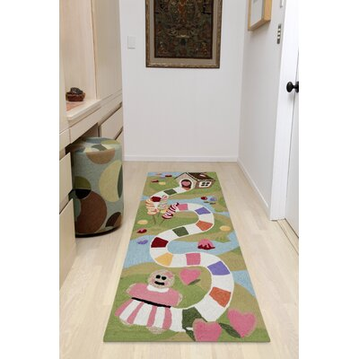 Raymond Fun and Sweets Hand-Tufted Multicolor Indoor/Outdoor Area Rug Rug Size: Runner 23 x 6