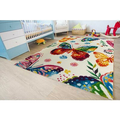 Andy Bedroom Decor Rainbow Area Rug Rug Size: 53 x 73