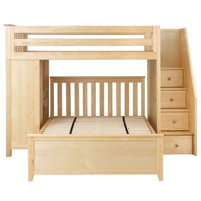 Amandes Staircase Combo Twin Over Full Loft Bed