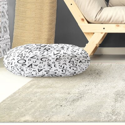 Allenwood My ABC and 123 Outdoor Floor Pillow Size: 26 x 26