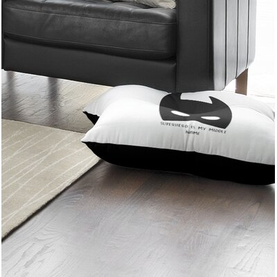 Allenville Superhero Is My Middle Name Outdoor Floor Pillow Size: 26 x 26