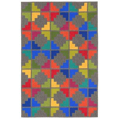 Latonya Hand Tufted Gray/Blue Indoor/Outdoor Area Rug Rug Size: Rectangle 5 x 76