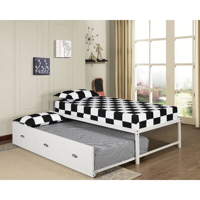 Clinton Daybed with Trundle Color: White