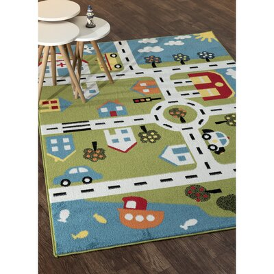 Gulf City Green/Blue Area Rug Rug Size: Rectangle 5 x 7