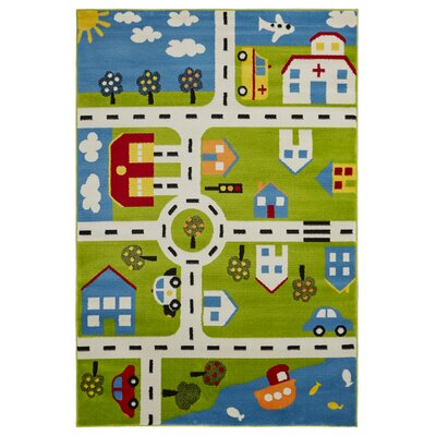 Gulf City Green/Blue Area Rug Rug Size: Rectangle 36 x 56