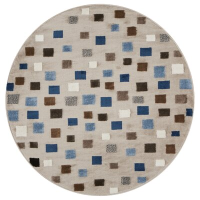 Gulf Gray Area Rug Rug Size: Round 48