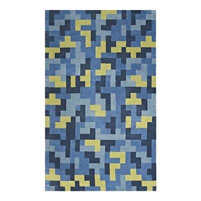 Hartshorn Blue/Light Olive Green Area Rug Rug Size: Rectangle 5x 8