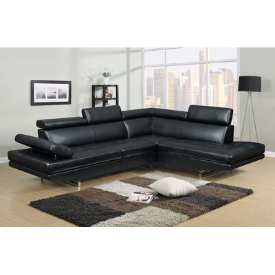 Logan Sectional Upholstery: Black