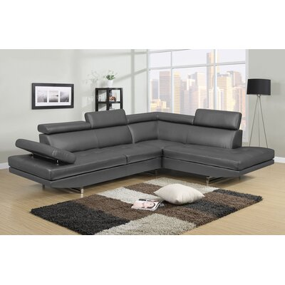 Logan Sectional Upholstery: Gray