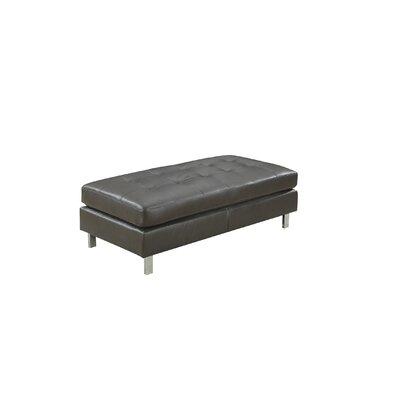 Logan Ottoman Upholstery: Gray