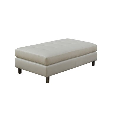Logan Ottoman Upholstery: White