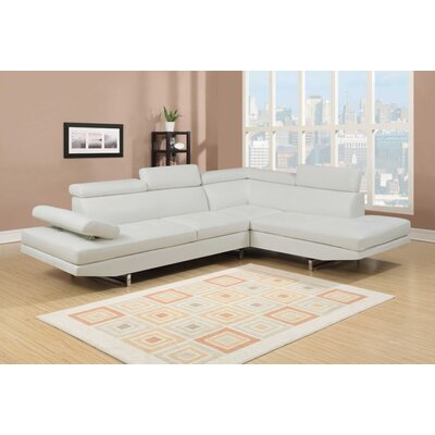 Logan Sectional Upholstery: White