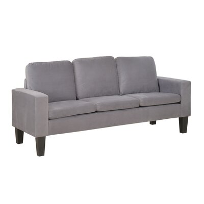 72013-63GY NHHM1035 NathanielHome Sarah Microfiber Sofa