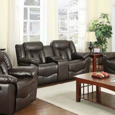 71006-95 NHHM1040 NathanielHome James Motion Loveseat with Console