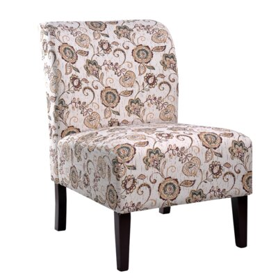 Khloe Slipper Chair Upholstery: Brown