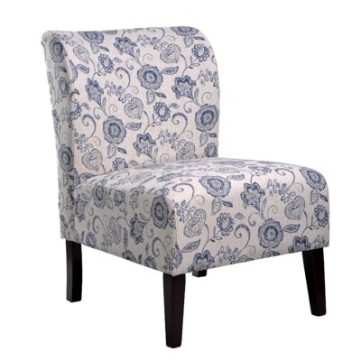 Khloe Slipper Chair Upholstery: Blue
