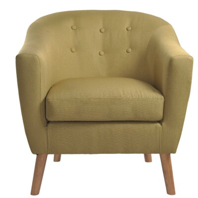 Jason Barrel Chair Upholstery: Green
