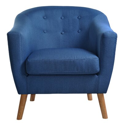 Jason Barrel Chair Upholstery: Blue