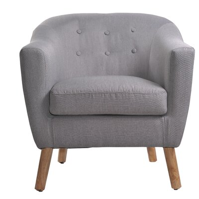 Jason Barrel Chair Upholstery: Light Gray
