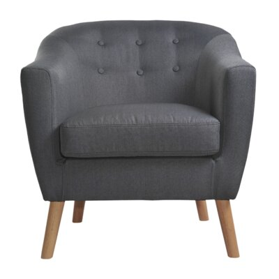 Jason Barrel Chair Upholstery: Dark Gray