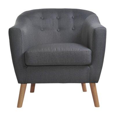 Jason Barrel Chair Upholstery: Dark Gray