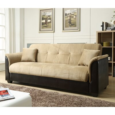Convertible Sofa Upholstery: Brown
