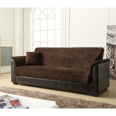 Convertible Sofa Upholstery Color: Chocolate