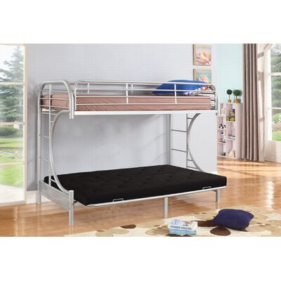 Jordan Twin Over C Futon Bunk Bed Color: Silver