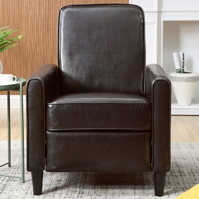 Ardith Push Back Recliner Upholstery: Brown