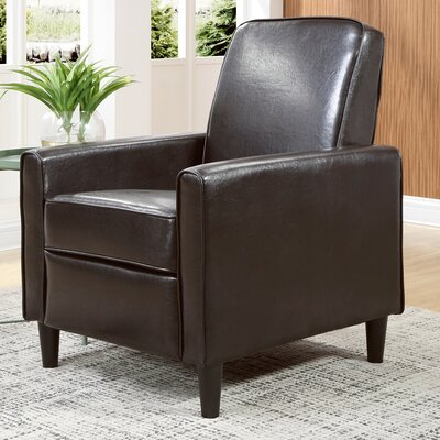 Ardith Manual Recliner Upholstery: Brown
