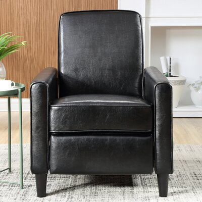 Ardith Push Back Recliner Upholstery: Black