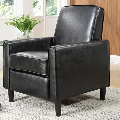 Ardith Manual Recliner Upholstery: Black