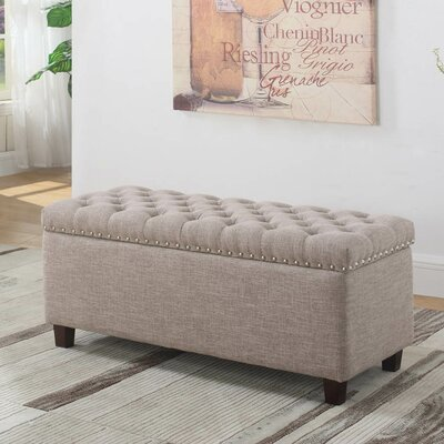 Brazil Storage Ottoman Upholstery: Taupe
