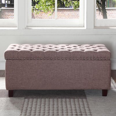 Brazil Upholstered Storage Bench Upholstery: Brown
