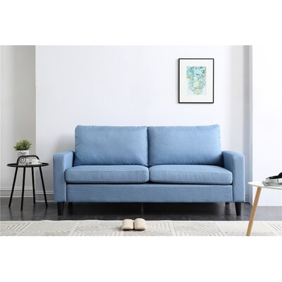 Crews Arm Sofa Upholstery: Blue
