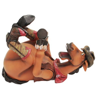 Cowboy/Horse 1 Bottle Tabletop Wine Rack