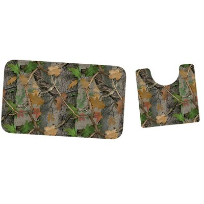 2 Piece Camouflage Memory Foam Mat Set