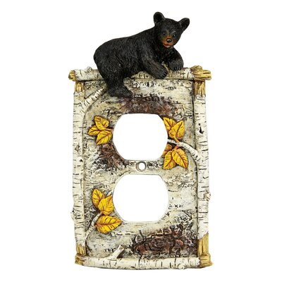 Birch Bear Receptacle Cover
