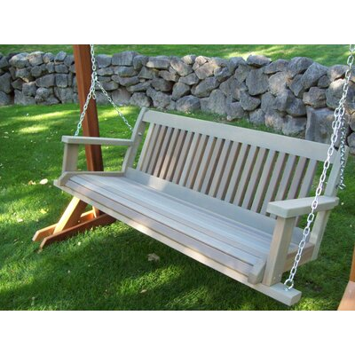 Cabbage Hill Porch Swing Finish: Gray Wash, Size: 20 H x 55 - 69 W x 21 D