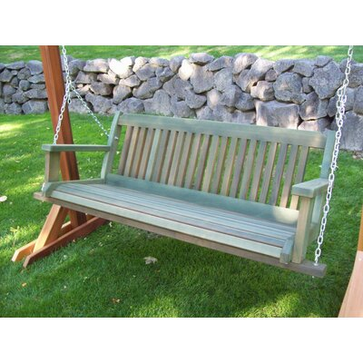 Cabbage Hill Porch Swing Finish: Green Wash, Size: 20 H x 55 - 69 W x 21 D