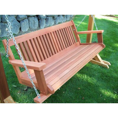 Cabbage Hill Porch Swing Finish: Red Wash, Size: 20 H x 55 - 69 W x 21 D