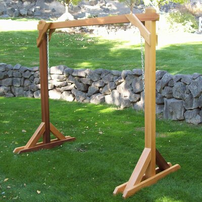 Basic Porch Swing Stand Finish: Unstained