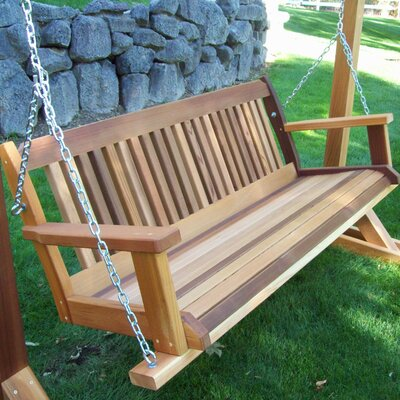 Cabbage Hill Porch Swing Size: 20 H x 45 - 59 W x 21 D, Finish: Gray Wash