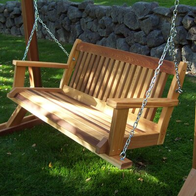 Cabbage Hill Porch Swing Size: 20 H x 45 - 59 W x 21 D, Finish: Cedar Stain