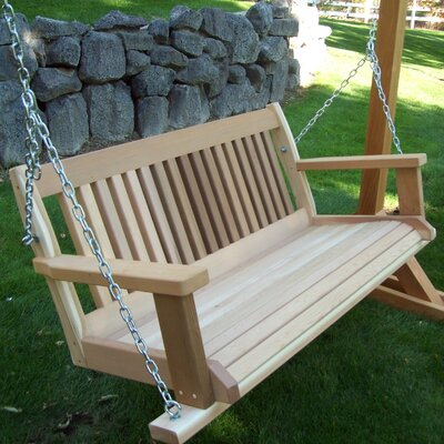 Cabbage Hill Porch Swing Size: 20 H x 45 - 59 W x 21 D, Finish: Unstained