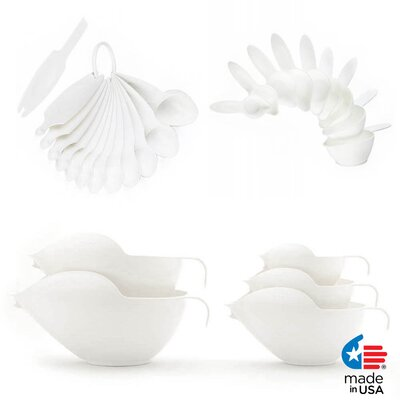 27 Piece Bowl and Measuring Set Color: White 1027100