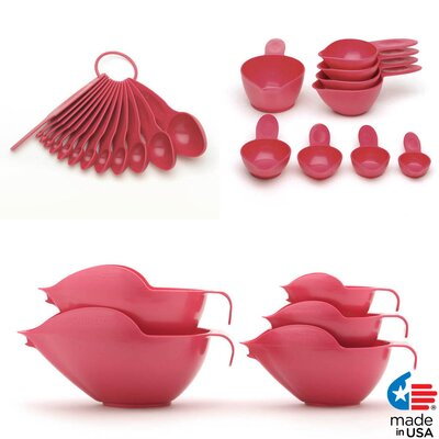 27 Piece Bowl and Measuring Set Color: Raspberry Ice 1027148