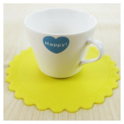 Silicon Cup Mat Color: Yellow K-21YLW