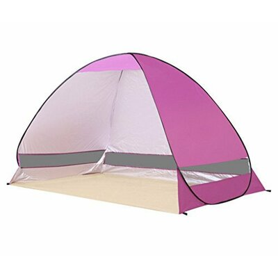 Portable 1 Person Beach Shelter Color: Pink